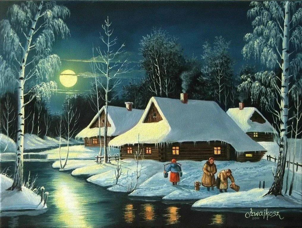 продолжите перемещение зимний вечер в польше картинка бекхэм