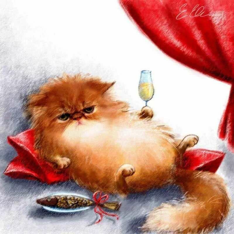 Картинки с днем рождения с рыжими котами, картинки