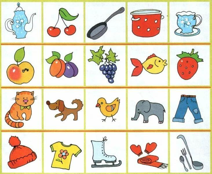 Картинки для детей убрать лишнее