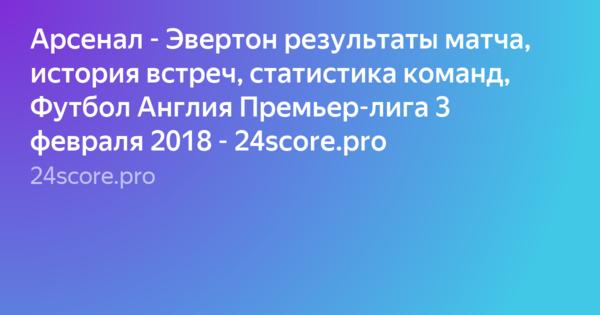 Статистика матчей арсенала эвертон