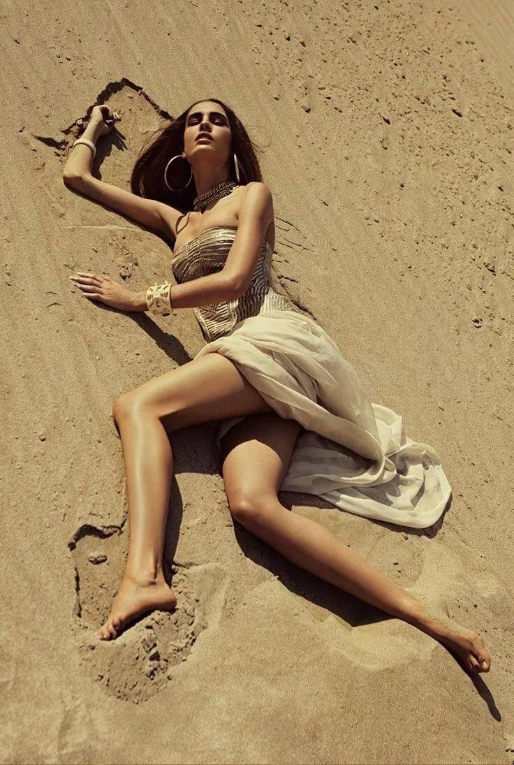 Как фотографироваться на песке неоднократно