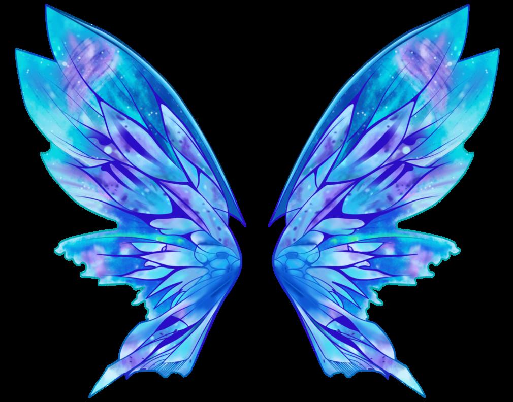 обрисовали крылья для феи картинка ярких оттенков