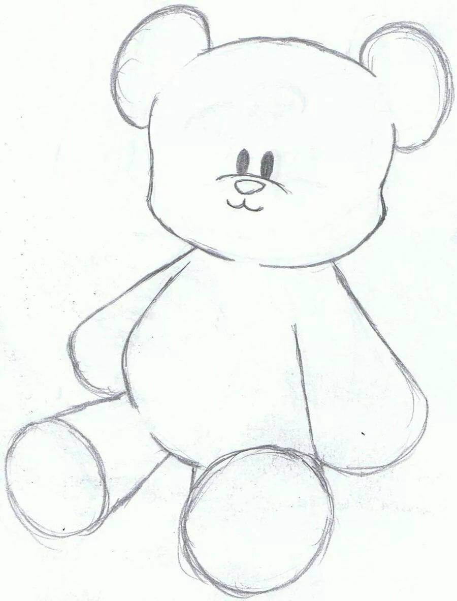 Картинки для срисовки карандашом милые мишки