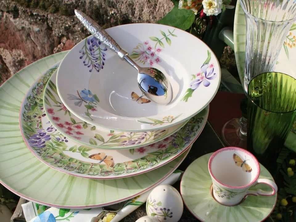 Картинки посуда в стиле прованс