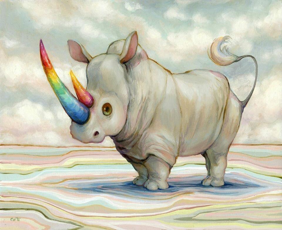 Прикольный носорог картинка, прикольные