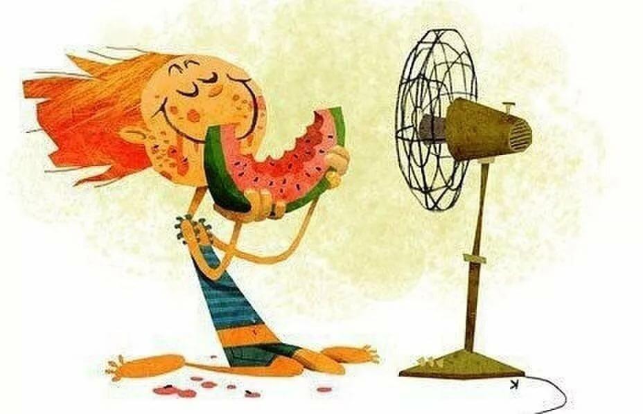 Прикольные картинки о жаре с надписями, днем