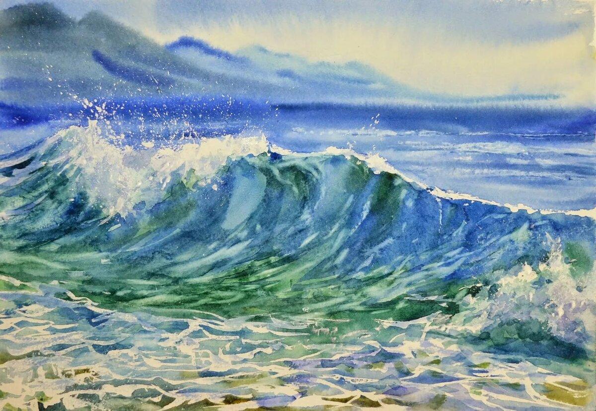 Картинки пейзаж моря рисунок