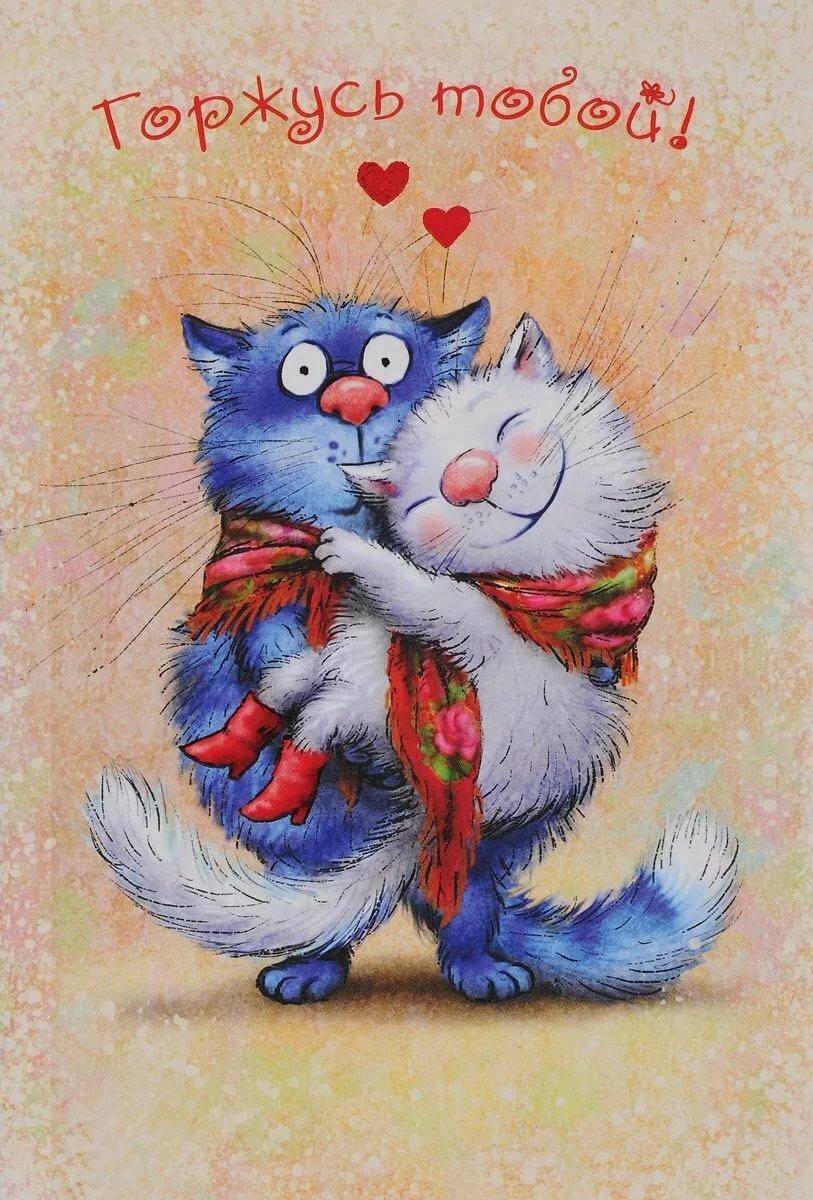 Картинок анимацию, красивые картинки для любимой жены с прикольными котиками