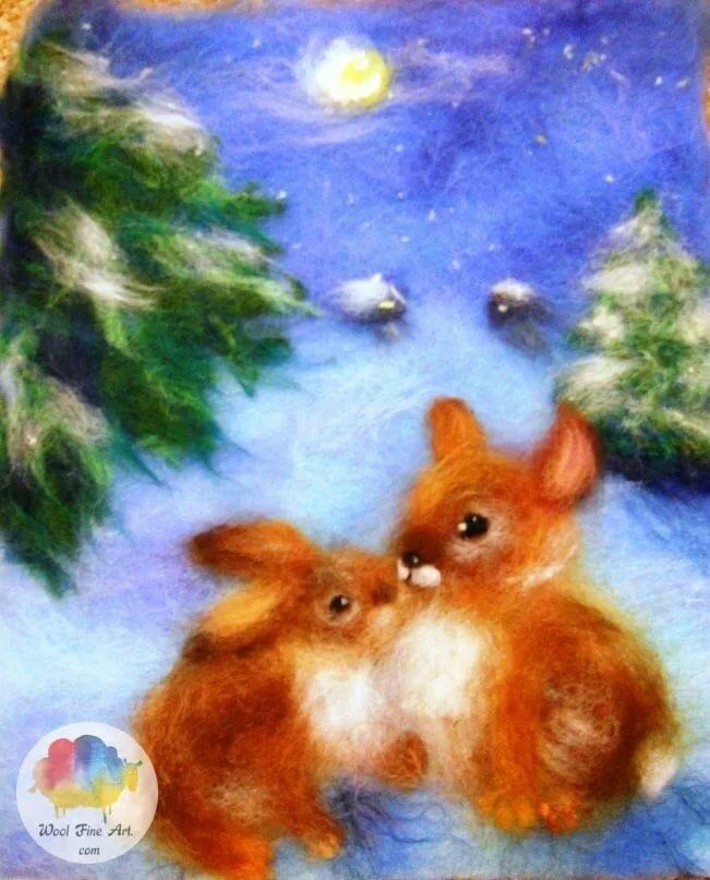 конечно, картинки из шерсти новогодние вам