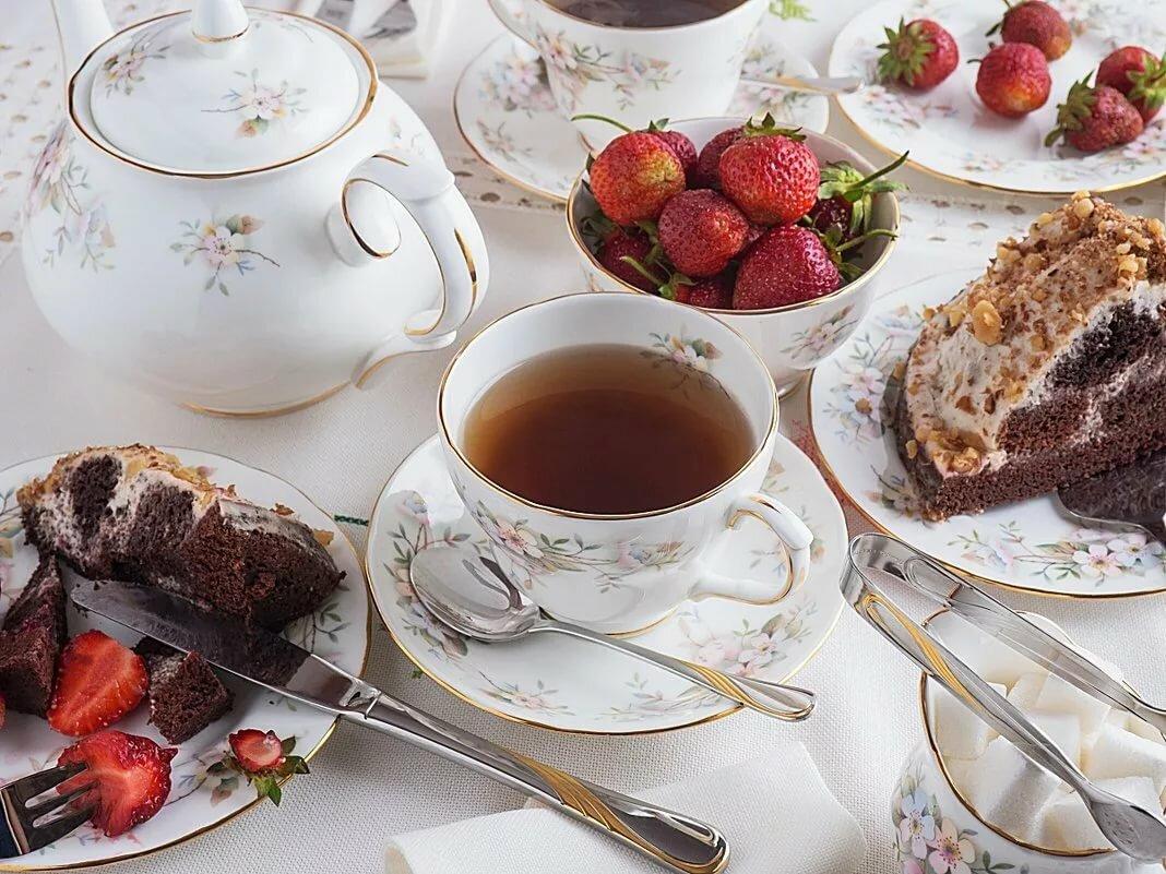 Пирожное и чай картинки