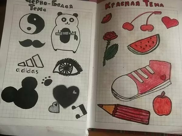 Прикольные рисунки для личного дневника темы на тему легкая, запорожцем самые красивые