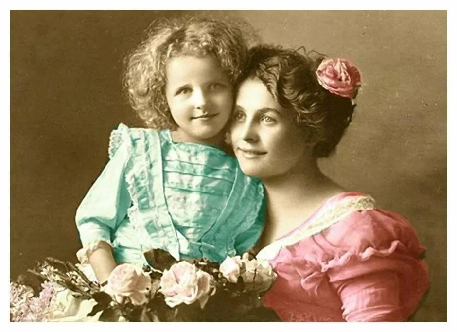 Фото открытки мама с младенцем, рождество