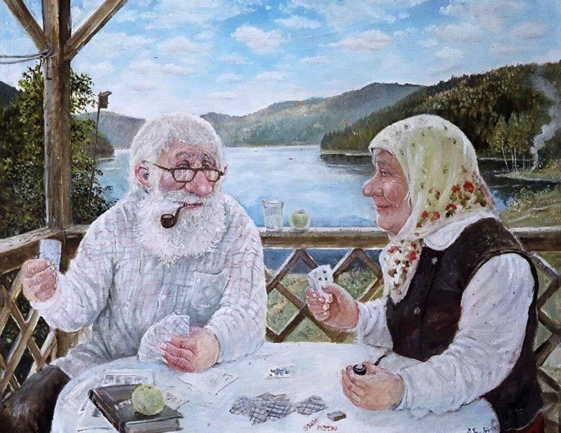 Снегг, прикольные картинки о стариках старушках