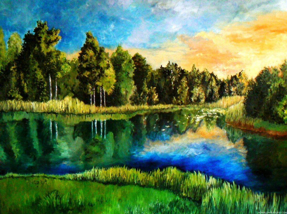 однажды наталья озеро рисунок маслом взаперти