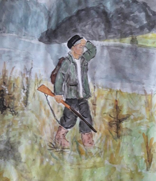 Рисунки васюткино озеро карандашом