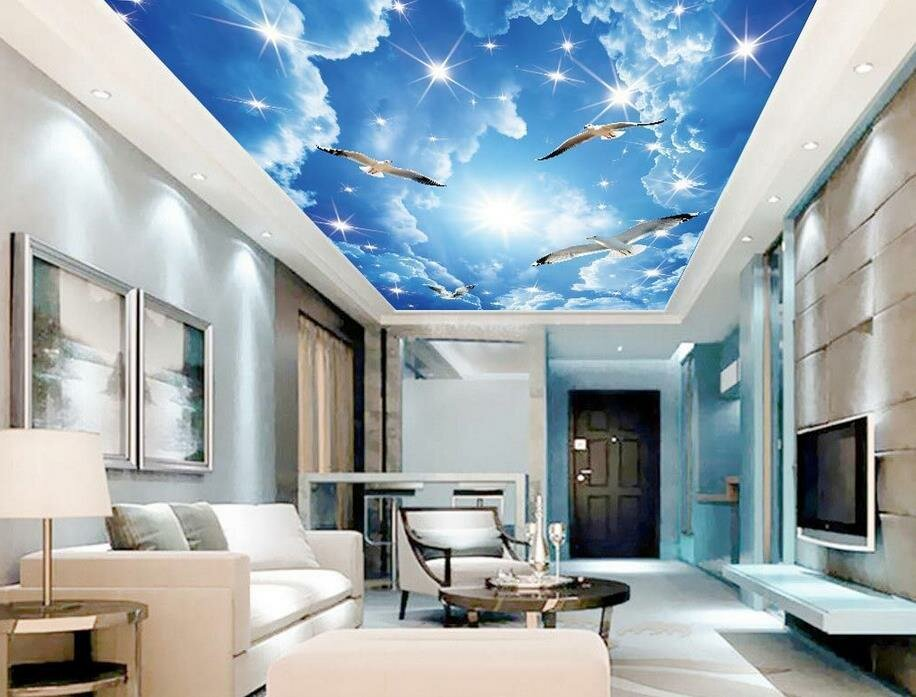 его фотообои на потолок небо с облаками натюрморт