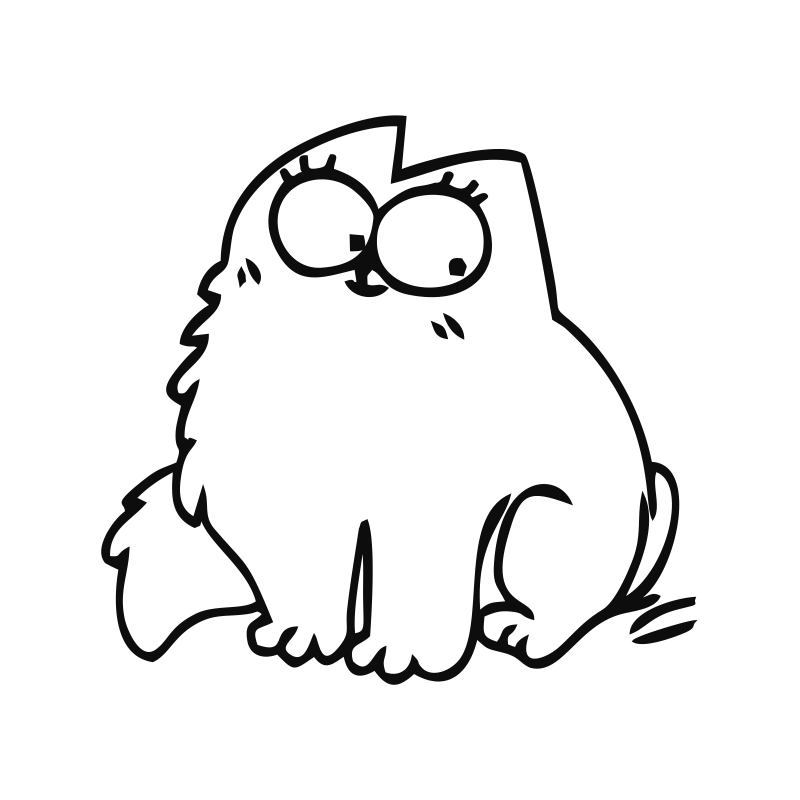 Картинки раскраски коты смешные, день