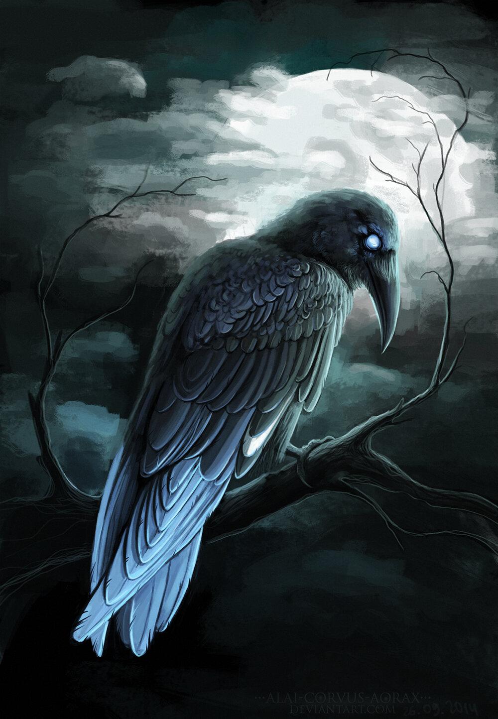 Открытку днем, картинки с воронами арты