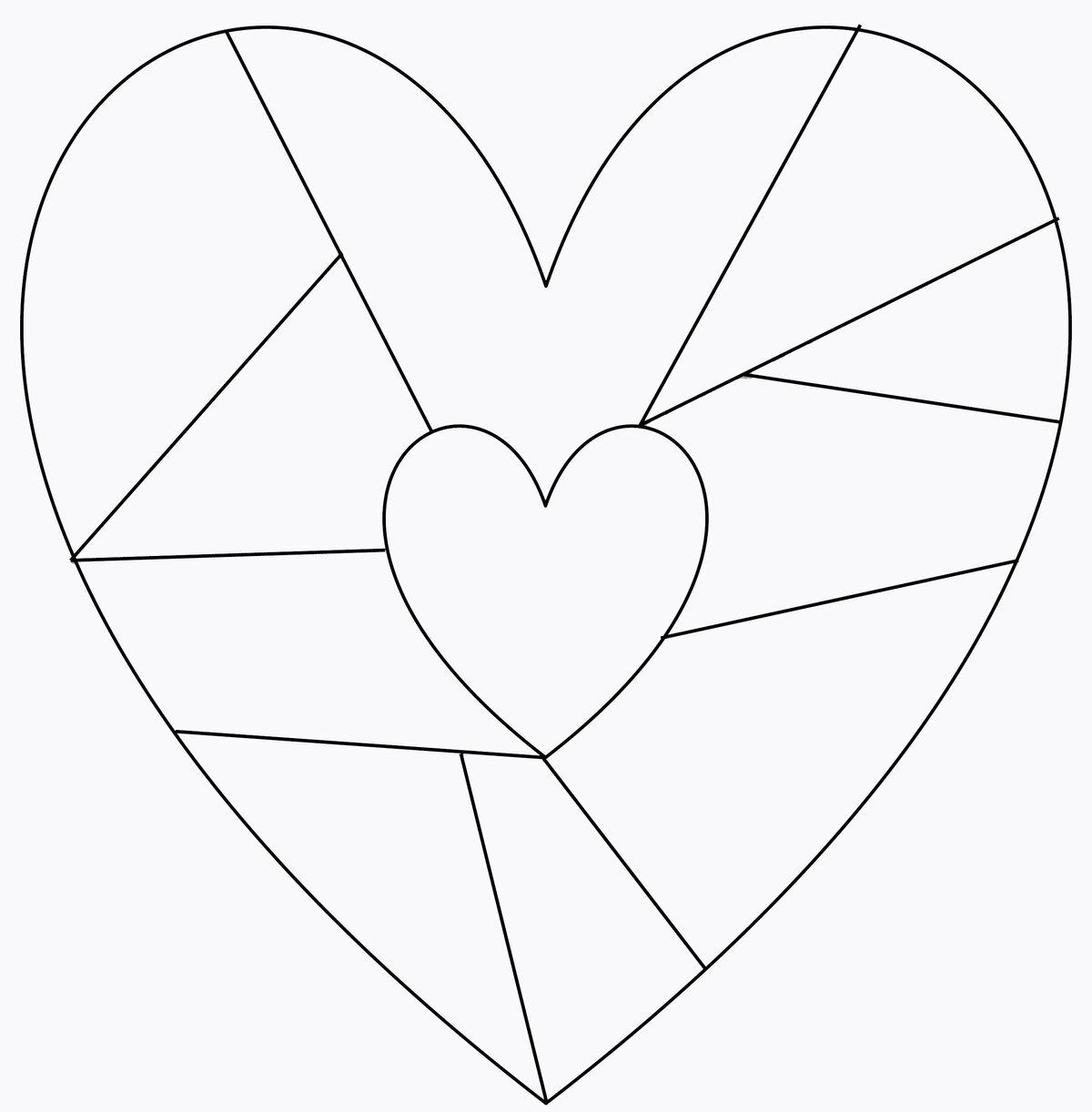 Шаблон открытки с днем святого валентина