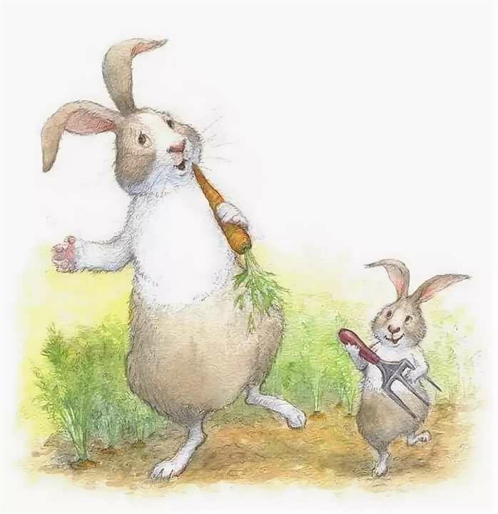 прикольные открытки кролики для начала стоит