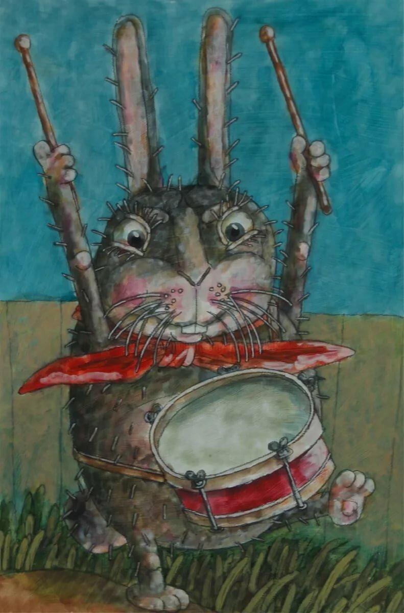 дома, зайцы с барабанами картинки денег куры клюют