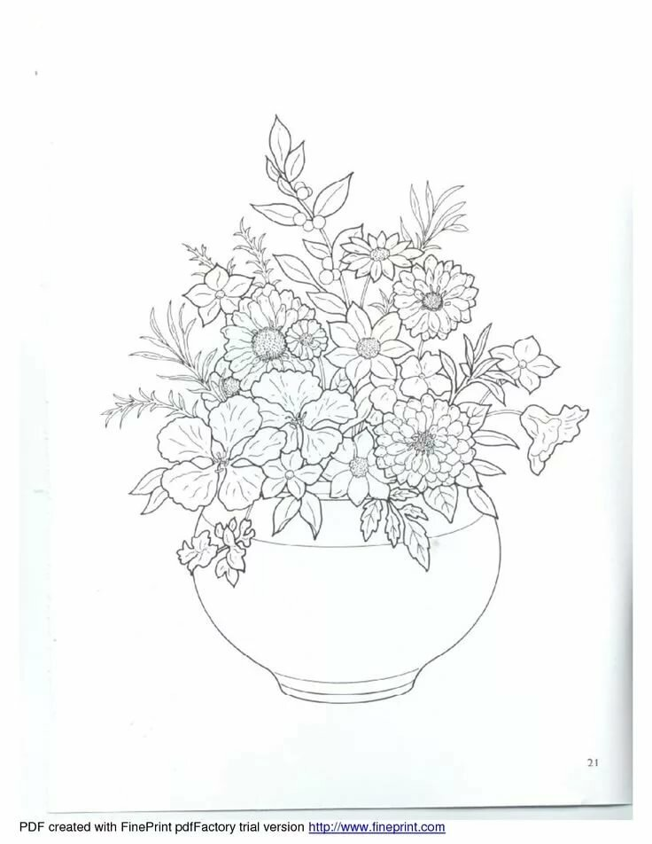 Летний букет цветов картинки для срисовки