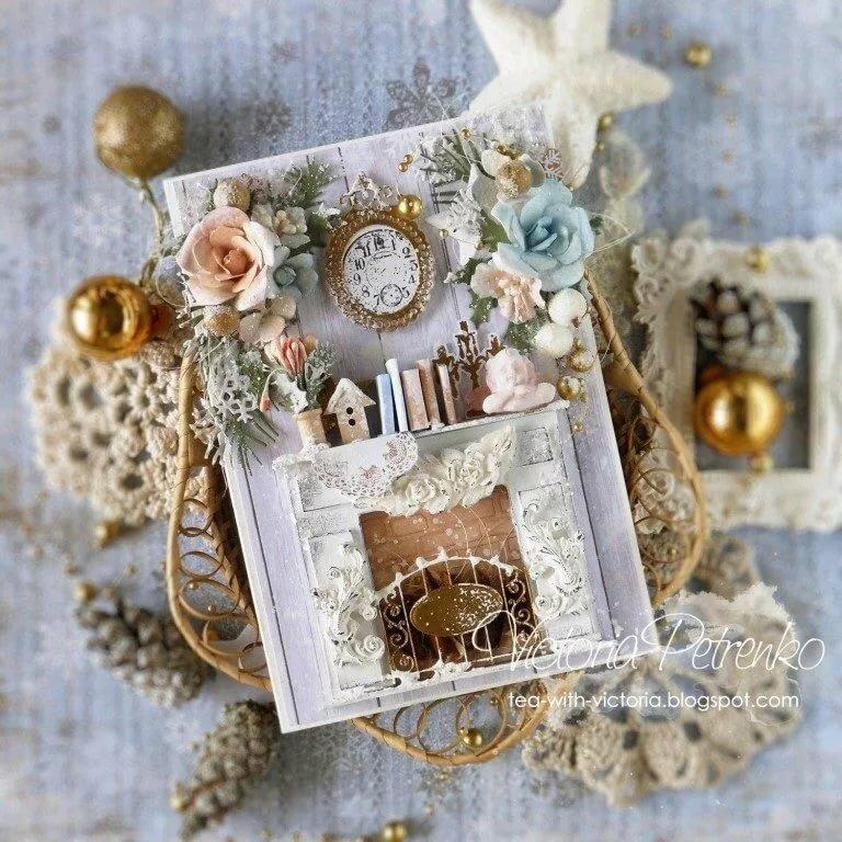 Винтажные открытки на новый год своими руками