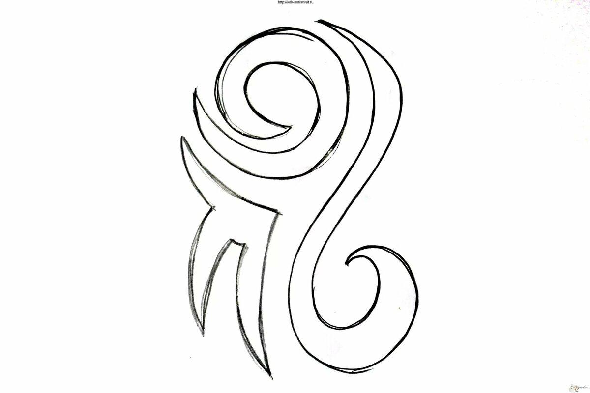 Легкие картинки татуировки поэтапно