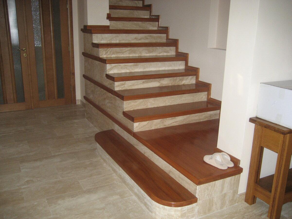 облицовка ступеней бетонной лестницы