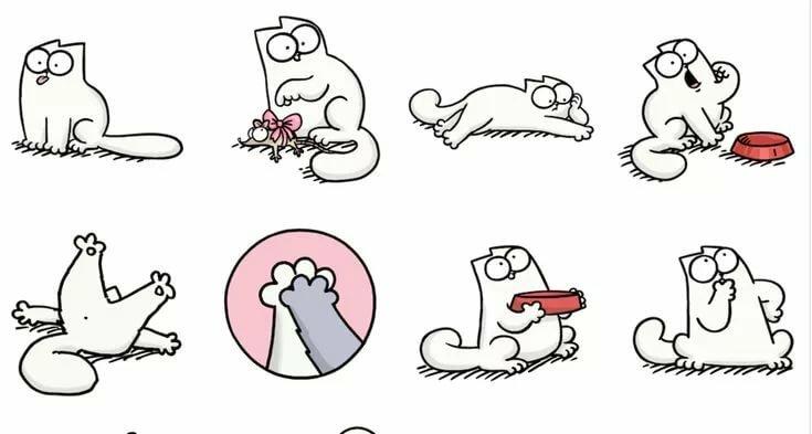 Прикольные рисунки для срисовки кошки