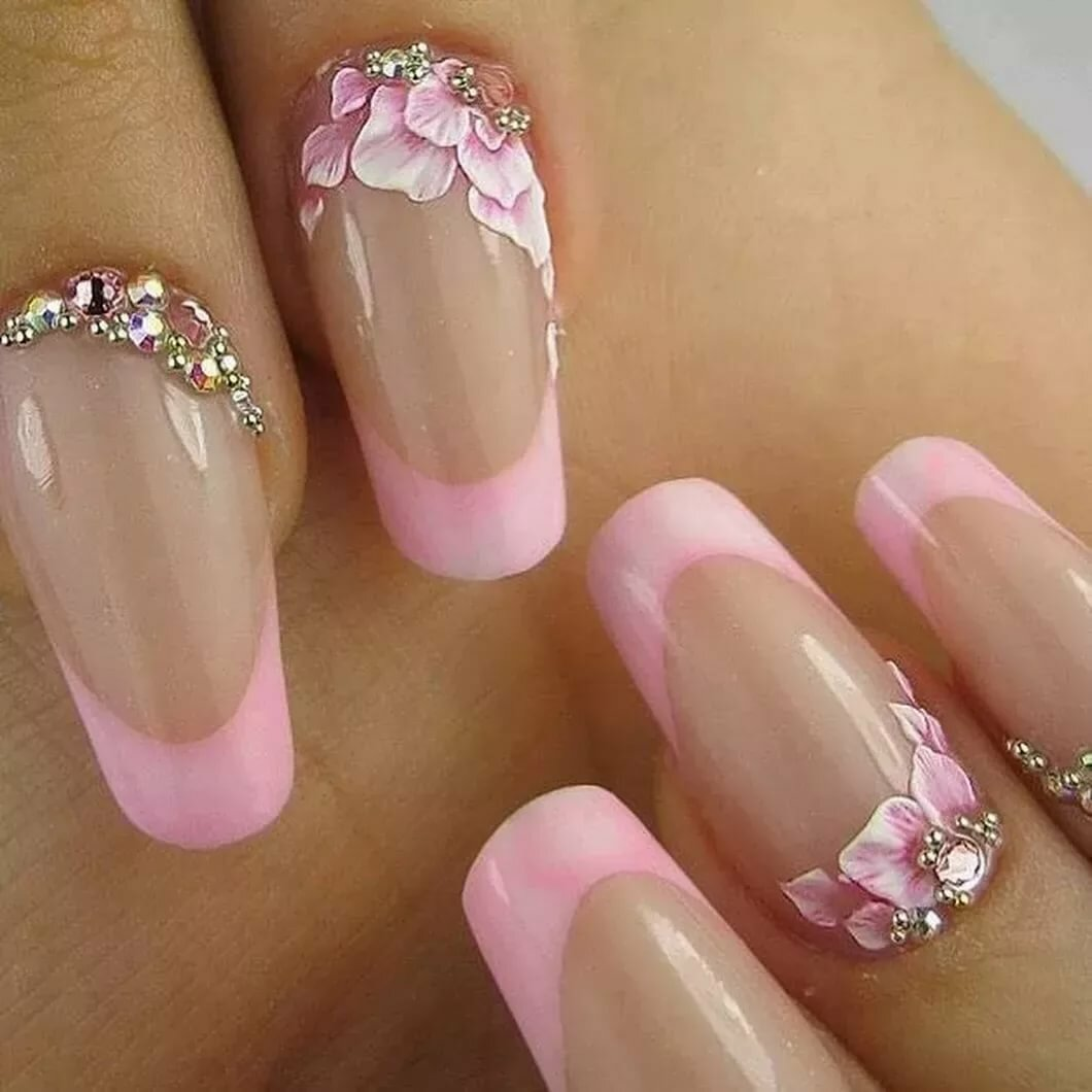 нравится фото весеннего маникюра на нарощенных ногтях самых больших плюсов