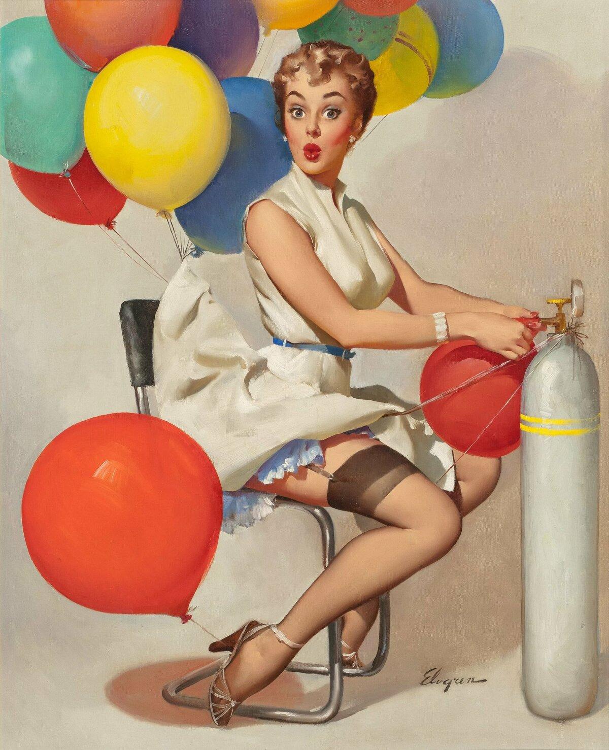 Открытка с днем рождения женщине с юмором ретро