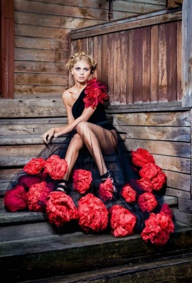 Картинки платье розы