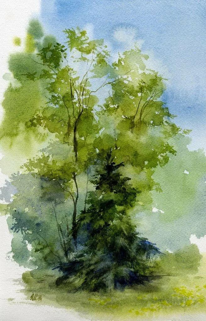Пленэр рисунок акварелью
