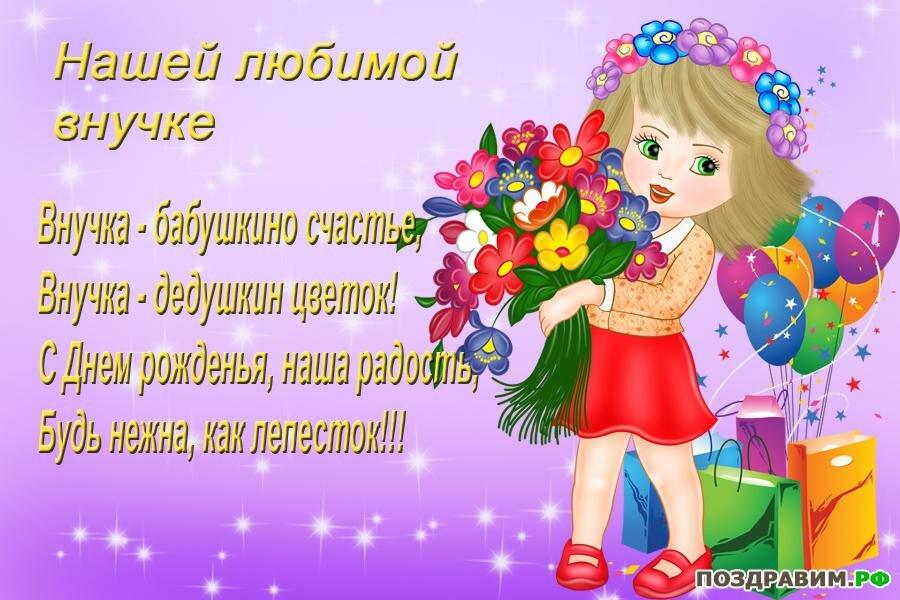 Поздравления с днем рождения картинки внучке, для открыток