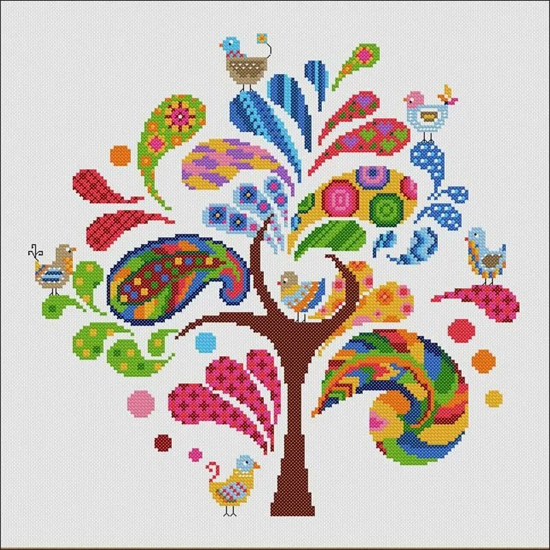 Вышивка дерево картинки