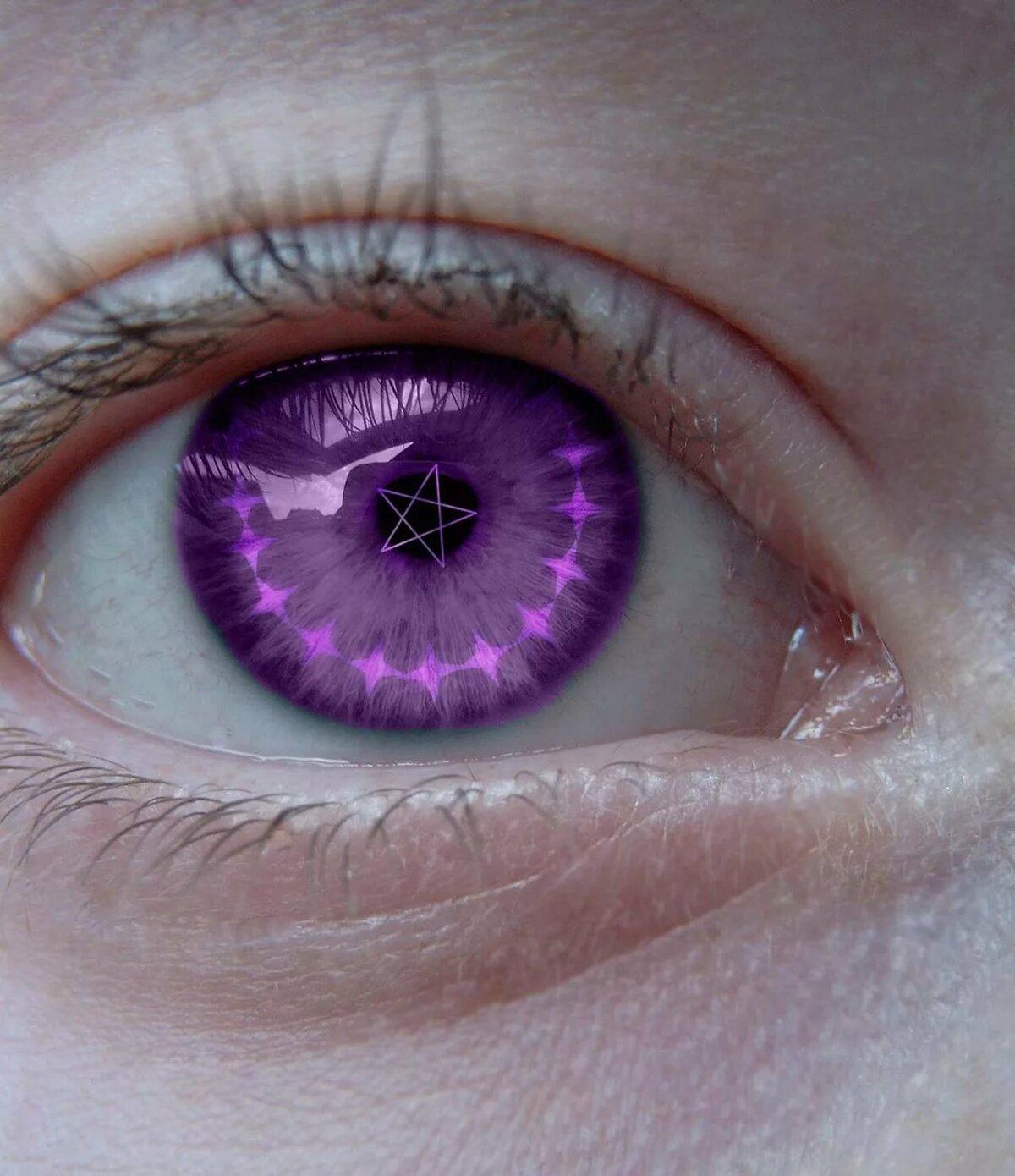 снимке журнале картинки фиолетовые глаза у человека тут