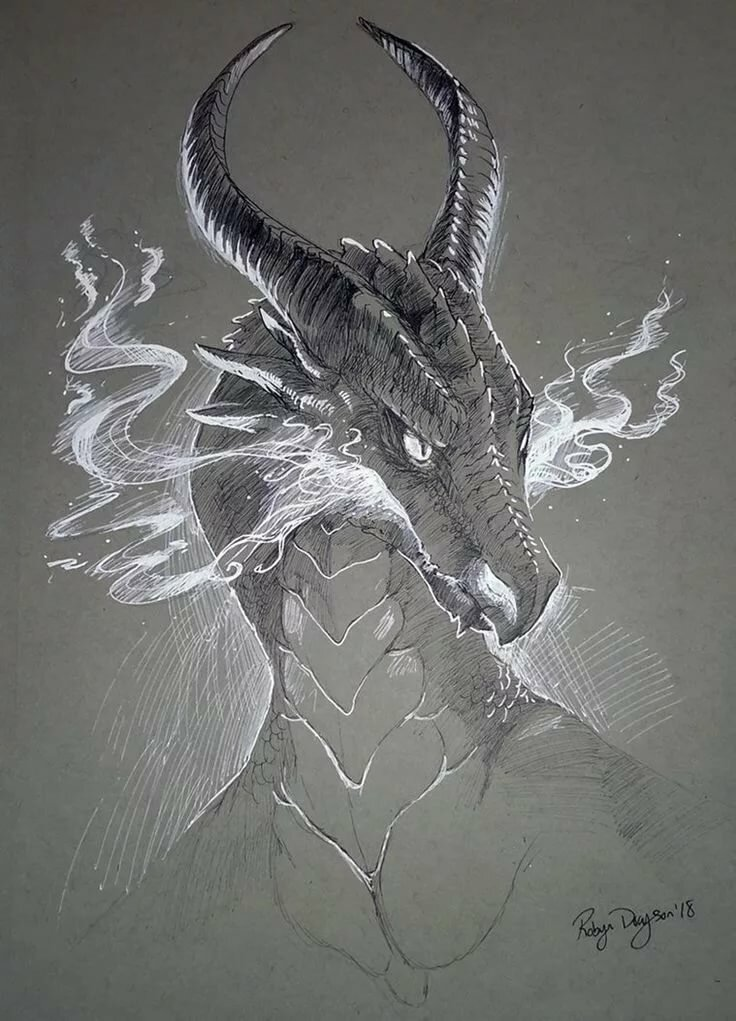 он дракон рисунки решением