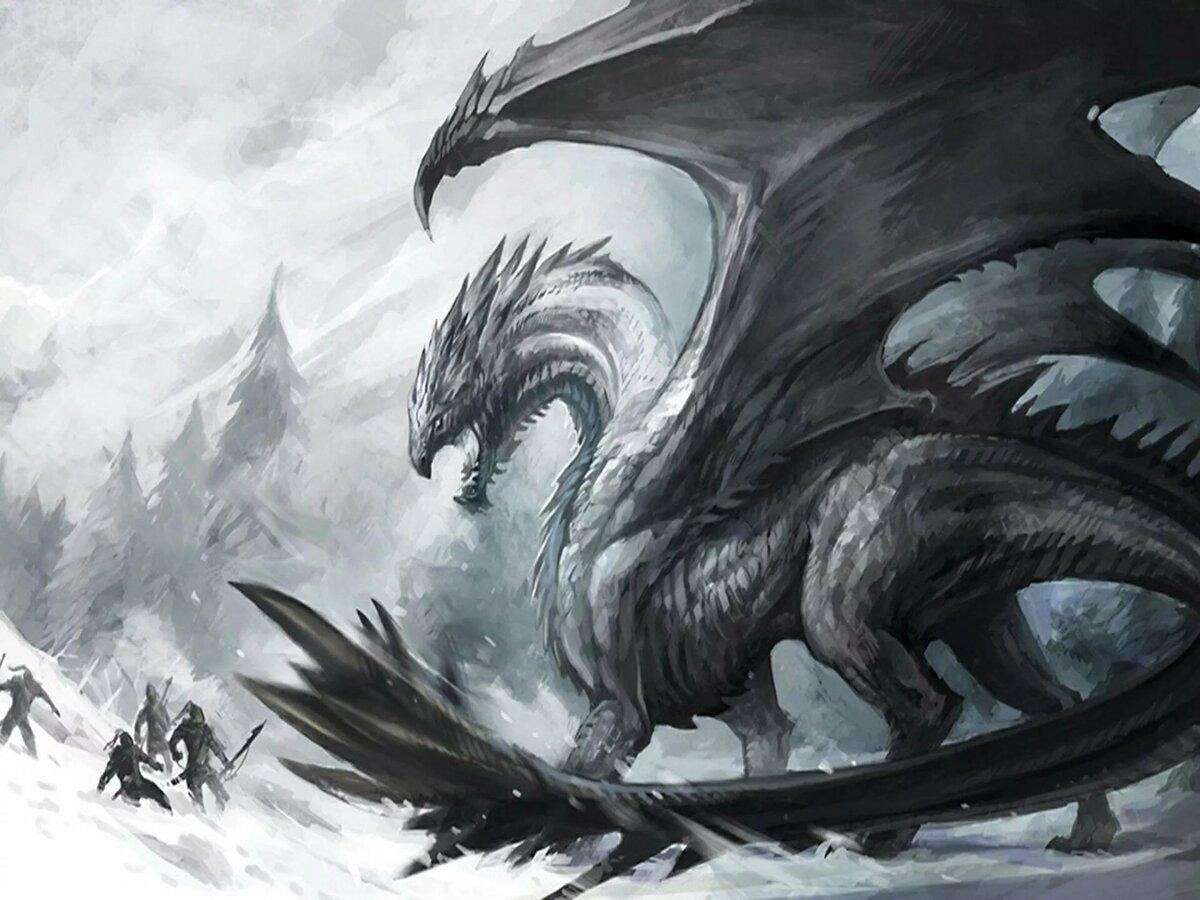 Картинки драконов черных с белыми