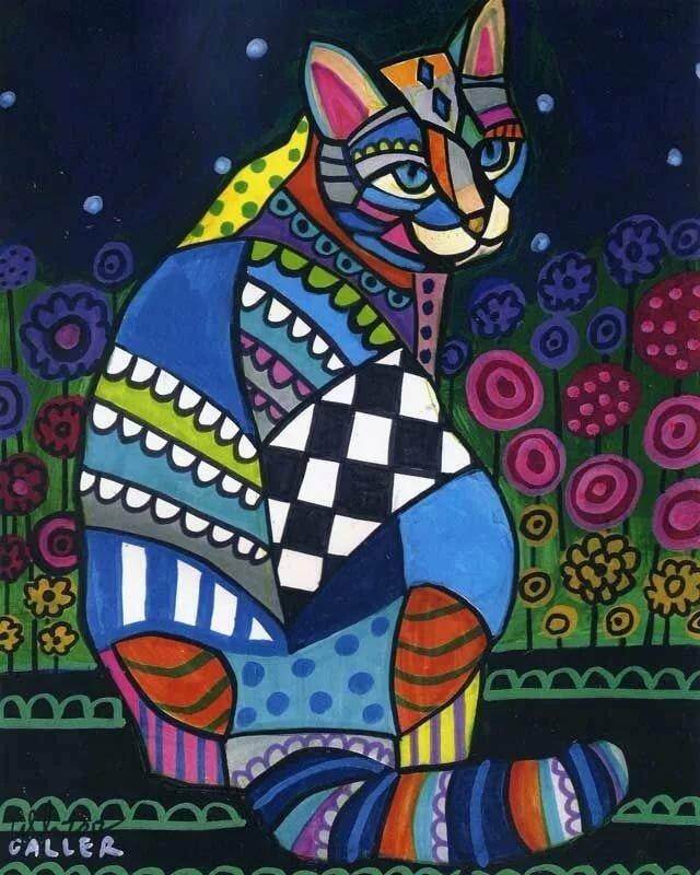 картинки абстракция кошки