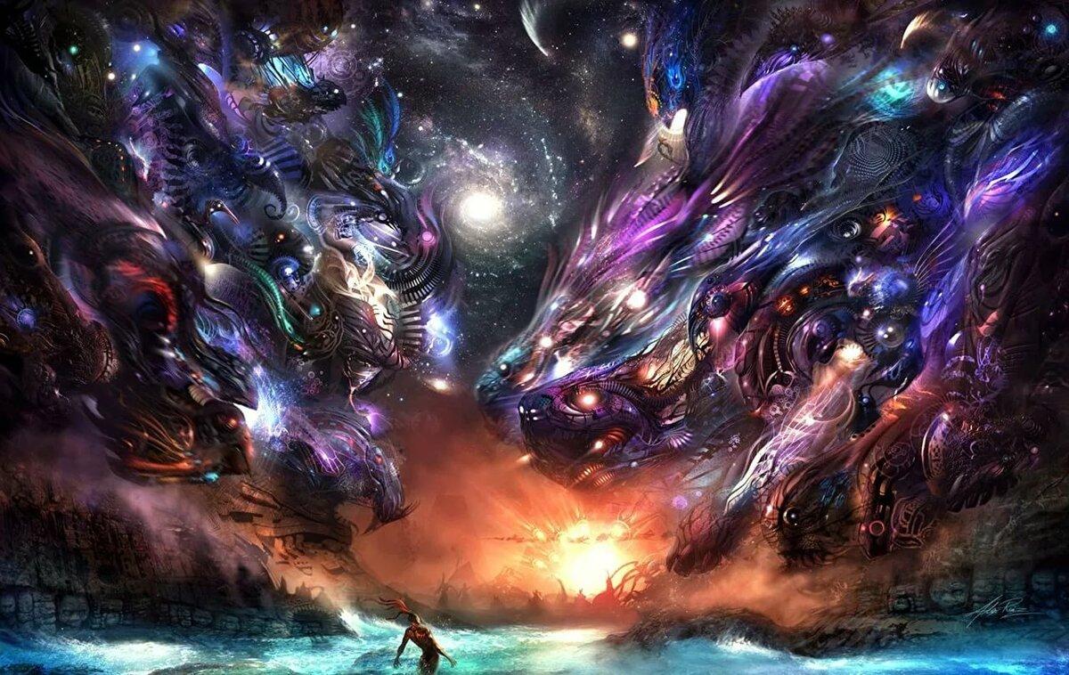 Картинки космос вселенная планеты фэнтези, картинки