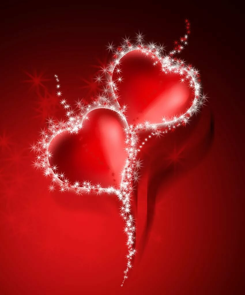 Открытку, картинки сердечек анимашки