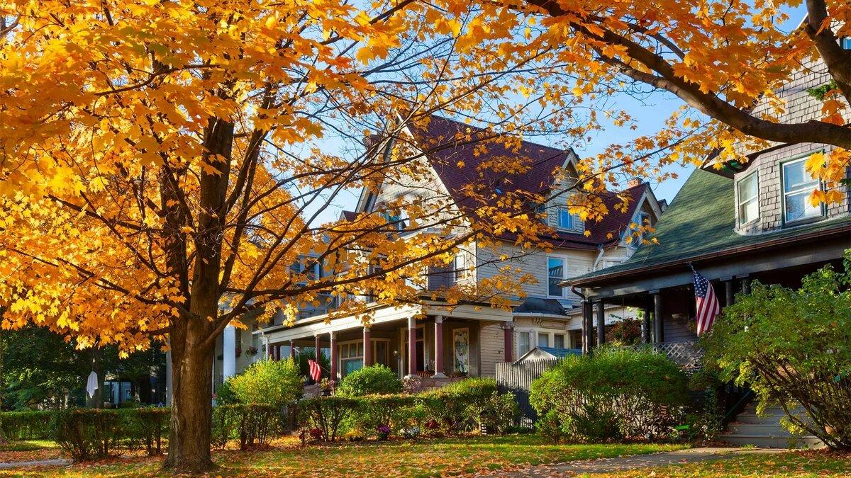 Картинки осень в америке