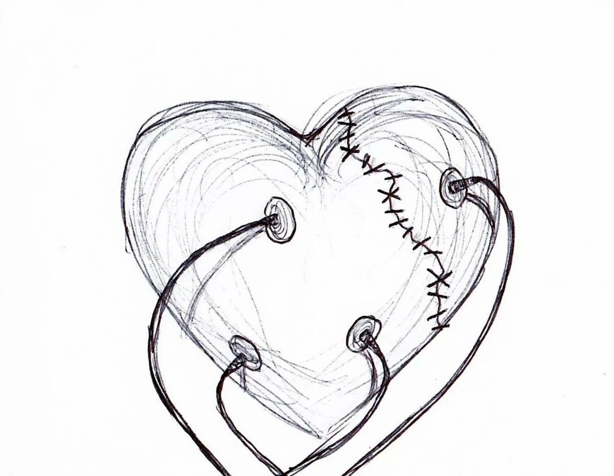 картинки которые можно срисовать сердце такое