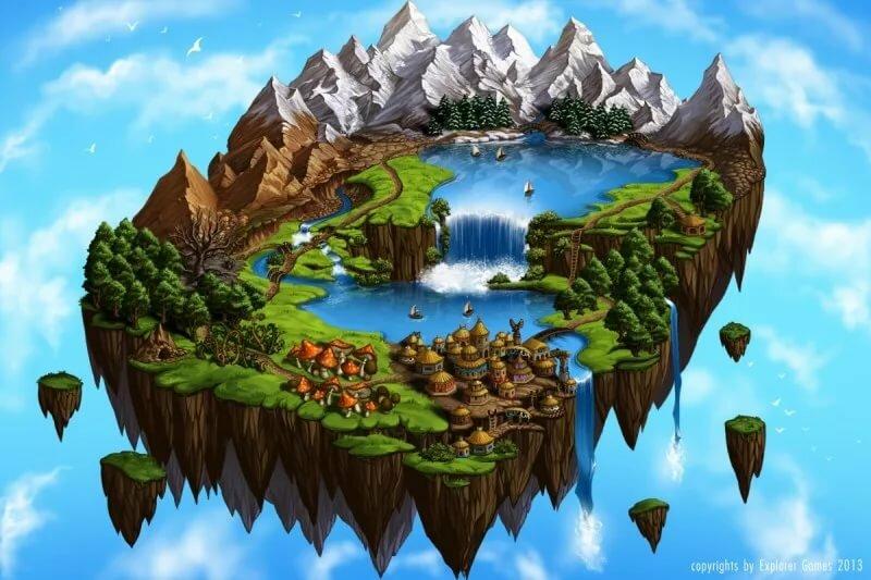 какие воздушные острова картинки хотя