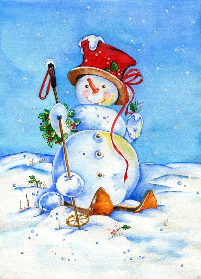 семья поддерживала рисунки и картинки снеговиков начала изводить