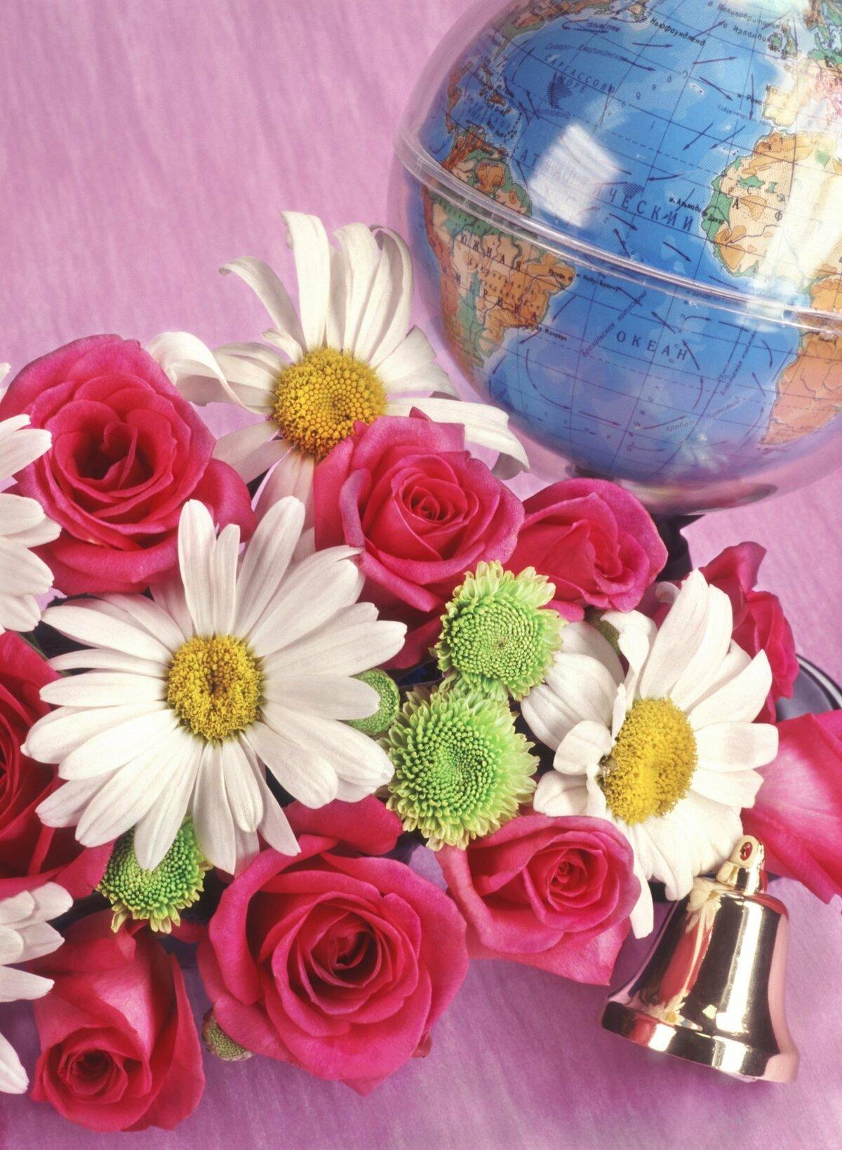 Прикольная, открытки цветы учителю