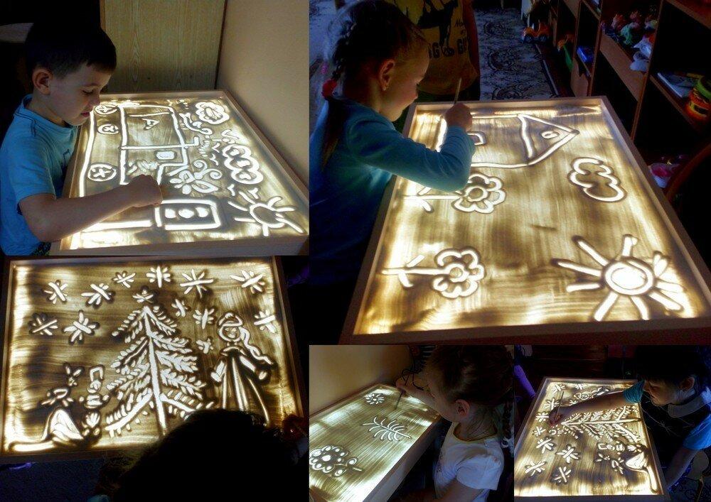 Детский светящийся планшет воображай песком в Рязани