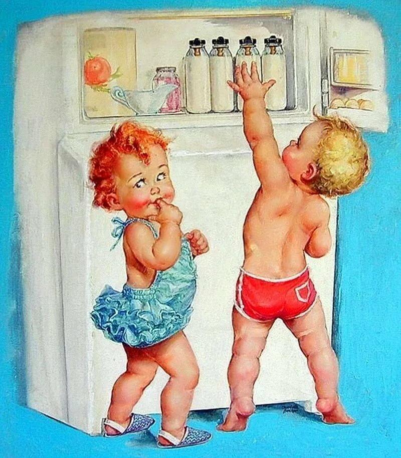 Прикольные рисунки с малышом и мамой, днем рождения