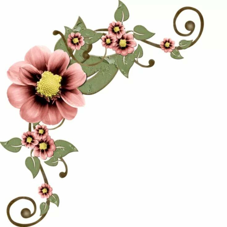 Вставка цветы в открытку